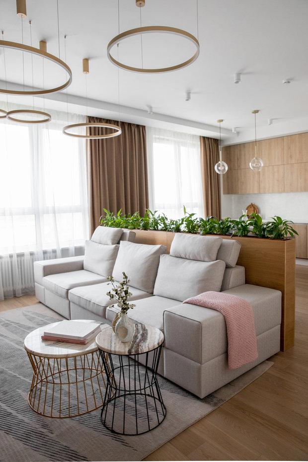 Фотография: Гостиная в стиле Современный, Квартира, Проект недели, Москва, 3 комнаты, 60-90 метров, Более 90 метров, Own Design – фото на INMYROOM