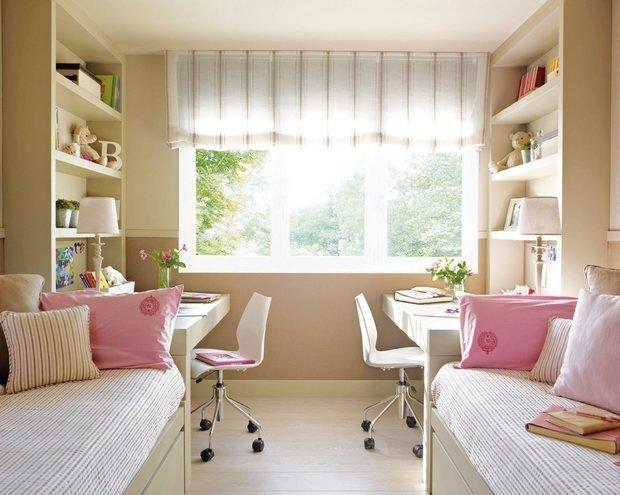 Детские комнаты дизайн фото для двух девочек