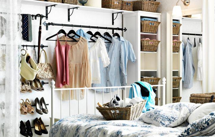 Как сделать гардеробную в маленькой комнате: 12 нюансов — INMYROOM