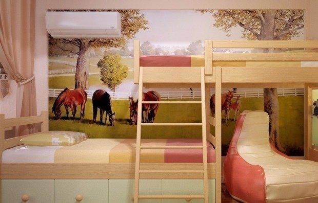 Дизайн однокомнатной квартиры для взрослых и детей фото
