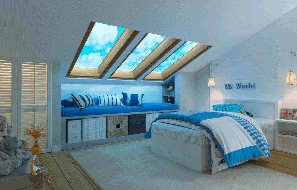 Спальня на мансарде 95 фото дизайн интерьера комнаты на чердаке в доме со стойками на мансардном этаже с комбинированной отделкой