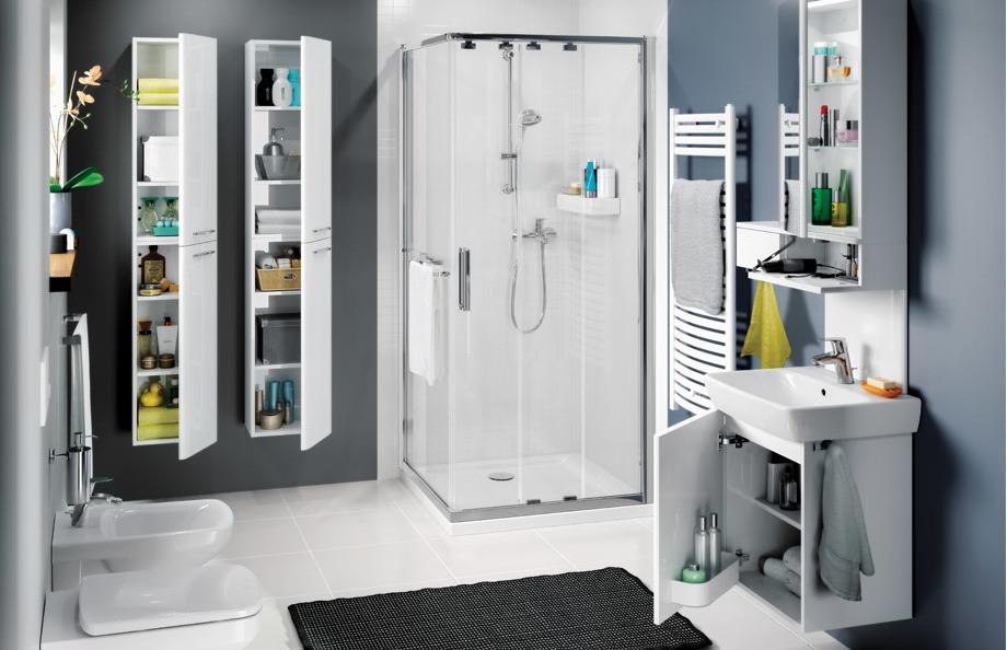На какой высоте вешать шкафчик в ванной