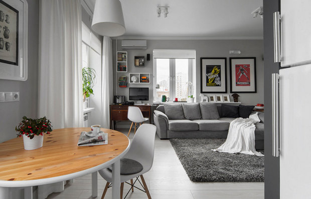как обустроить однокомнатную квартиру. фото