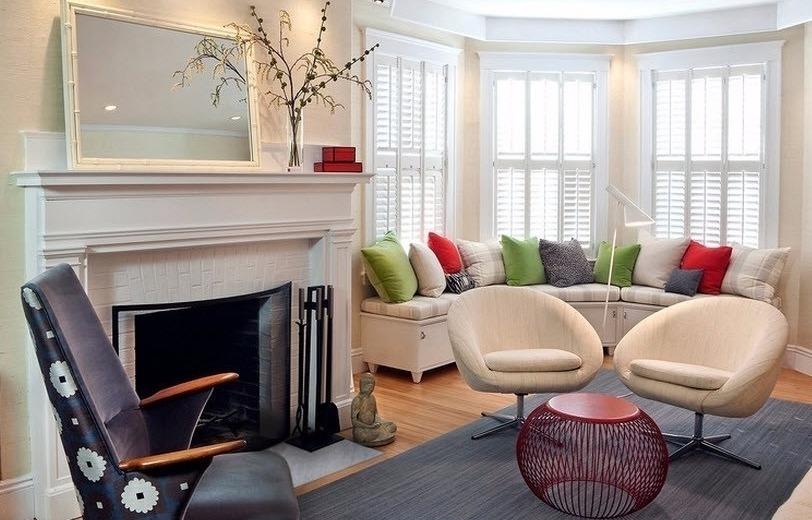 Дизайн комнаты с эркером — 30 красивых решений