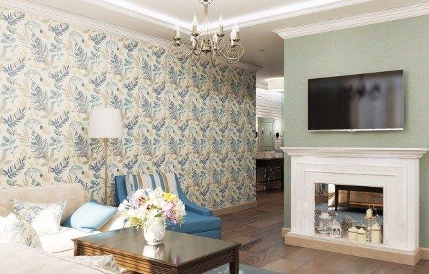 Обои двух цветов в гостиной: видео-инструкция