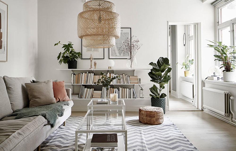 Как разнообразить белый интерьер: пример из Швеции