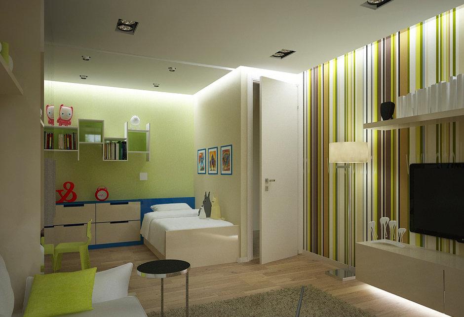 дизайн однокомнатной квартиры для семьи с ребенком фото реальные