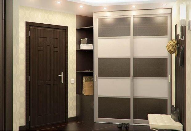 шкаф в купе в коридор фото