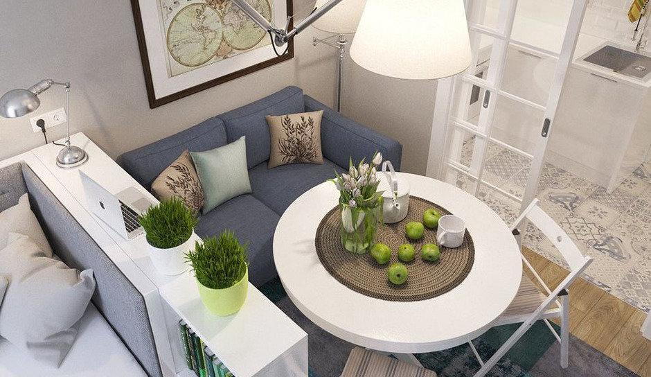 10 Creative Examples For Dividing Small Spaces: Студия недели: 14 квадратных метров в Питере