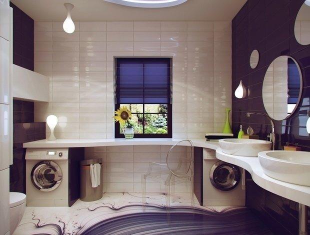 ремонт ванной комнаты малых размеров фото