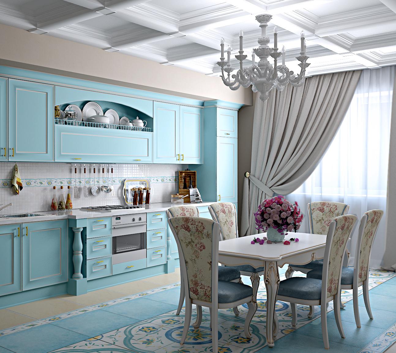 интерьер кухни в стиле прованс 70 фото незабываемого дизайна Inmyroom
