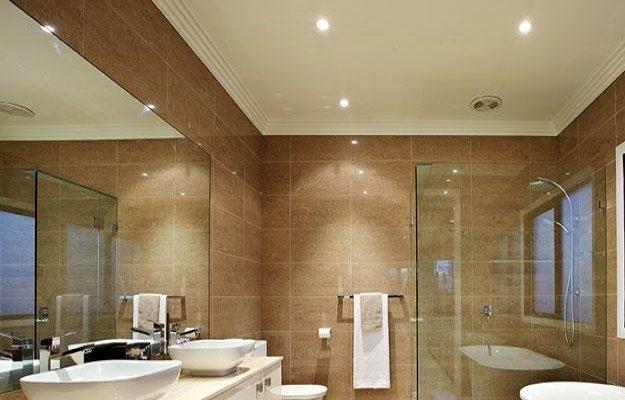 Освещение в ванной комнате: как организовать свет в ванной (  фото)