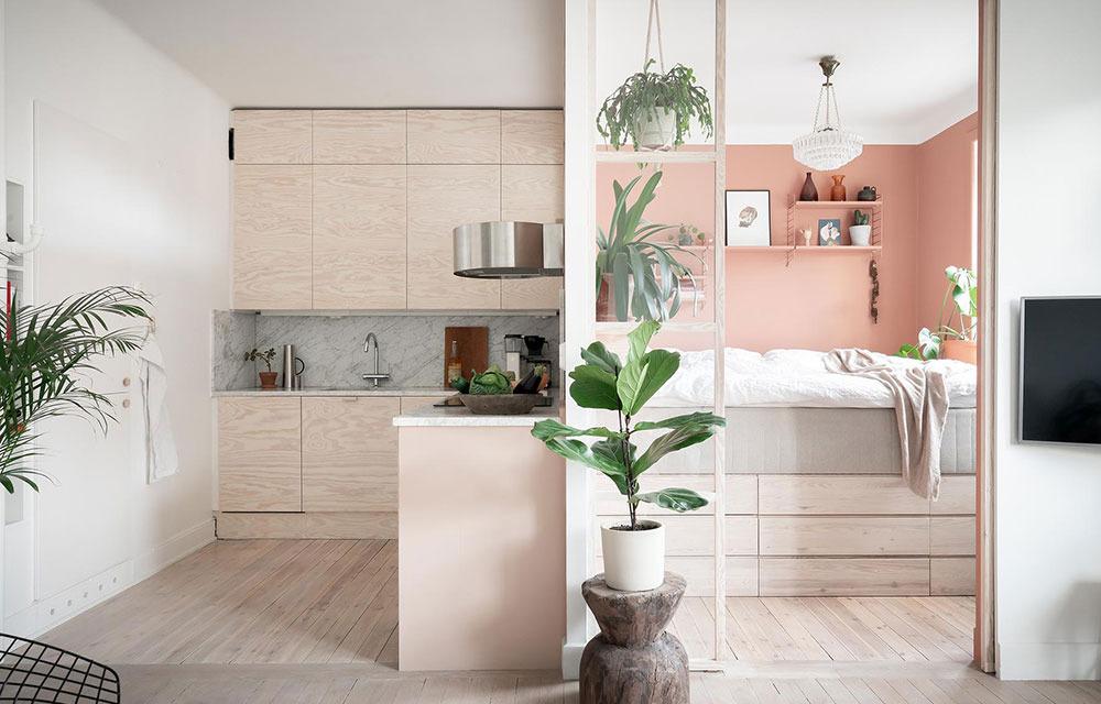 Квартира в розовом цвете: пример из Швеции