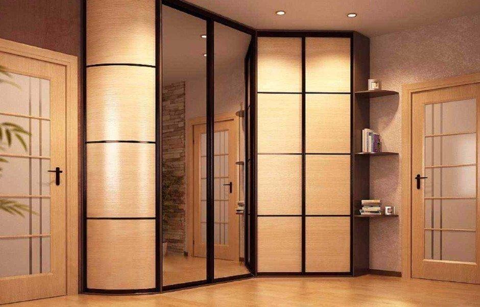 шкафы для прихожей фото угловые