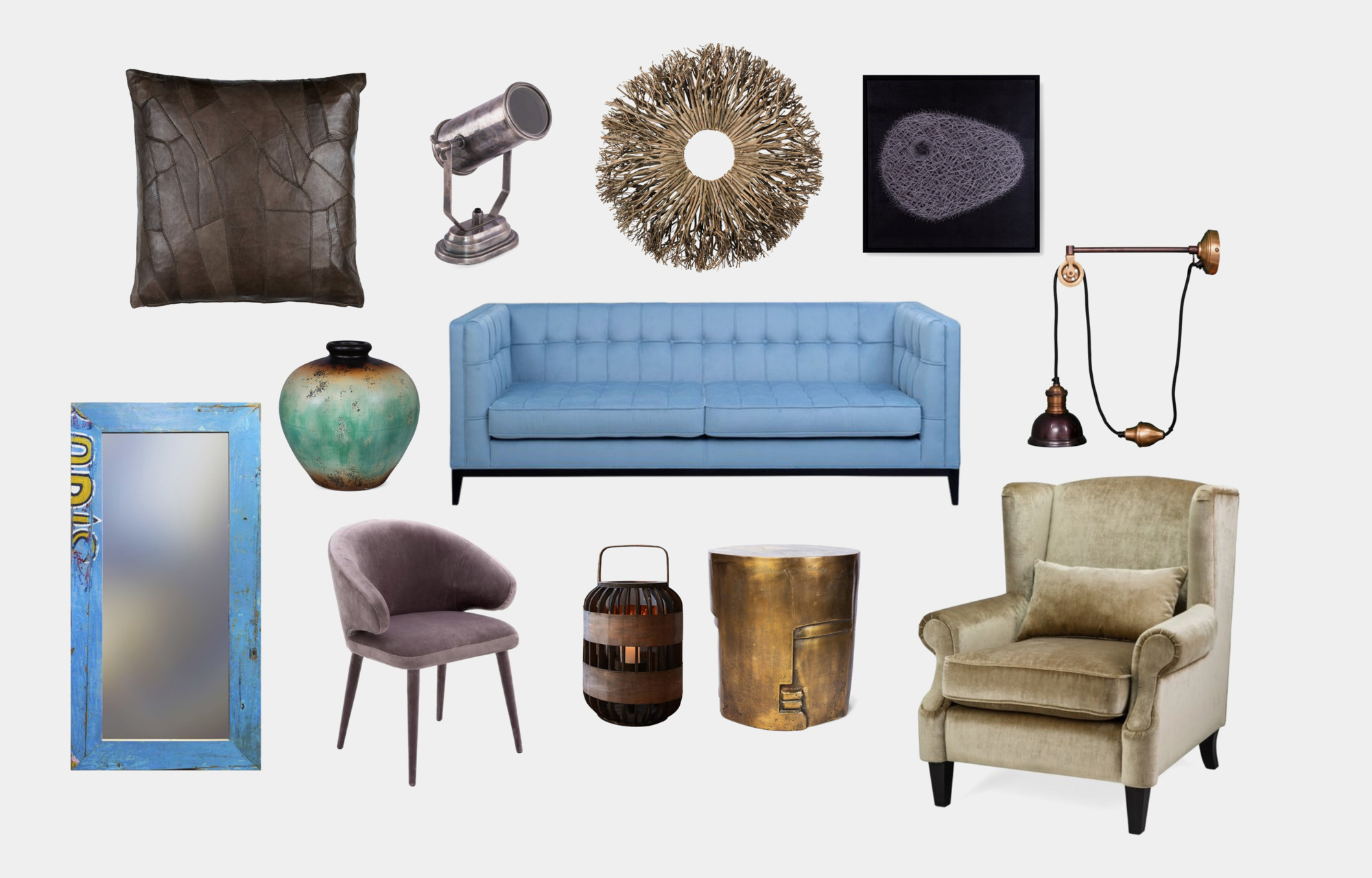 Мебель и декор <b>для</b> гостиной в холодных тонах - INMYROOM